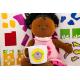 etiquette autocollant design retro ronde moyen format tasse enfants