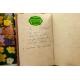 etiquette autocollant design art deco ellipse grand format cahier recette pistache