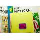 etiquette autocollant design retro base rectangle moyen format cahier arts visuels