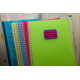 etiquette autocollant design retro base rectangle moyen format cahier orthographe