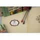 etiquette autocollant design art deco base rectangle moyen format cahier camp scout