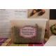 etiquette autocollant design retro base rectangle moyen format jardiniere legumes