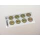etiquette autocollant design retro ronde moyen format planche vert