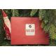 etiquette de nouvel an sapin rouge enveloppe