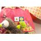 etiquette autocollant design simple carre petit format allergie sac
