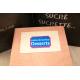 etiquette autocollant design retro base rectangle grand format planche bleu cahier recettes dessert