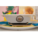 etiquette autocollant design retro ronde moyen format assiette bebe