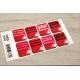 etiquette de noel rouge planche