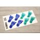 etiquette autocollant design specifique pied moyen format senior planche