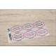 etiquette autocollant design retro base rectangle moyen format planche rose