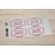 etiquette autocollant design retro base rectangle grand format planche rose