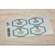 etiquette autocollant design retro base rectangle grand format planche bleute