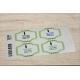 etiquette autocollant design retro base rectangle grand format planche vert