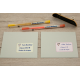 Pack autocollants etiquette adresse livres